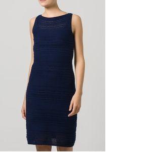 LAUREN Ralph Lauren Dark Blue Sweater Dress Large